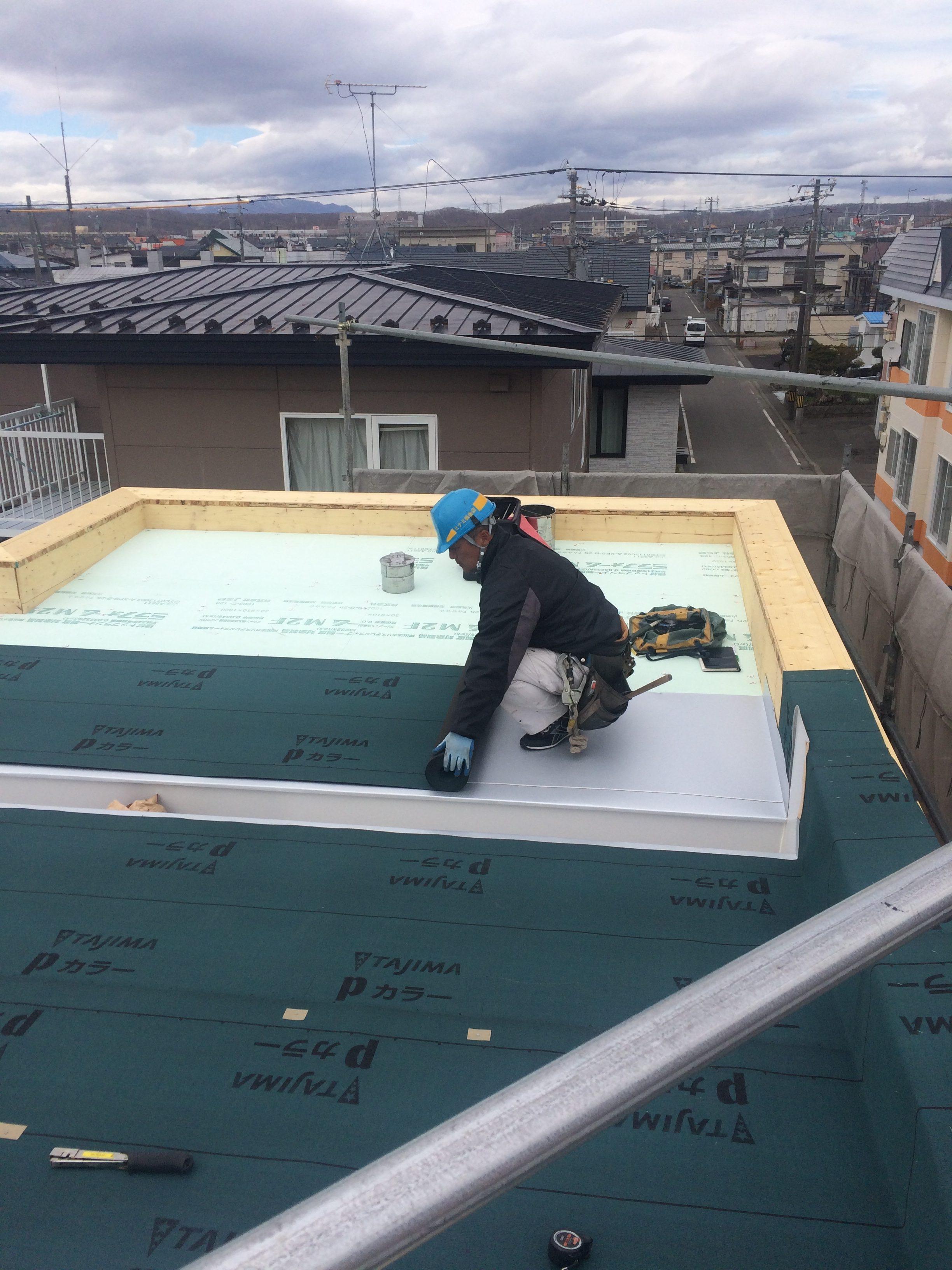 苫小牧新築工事④ 屋根・外装下地