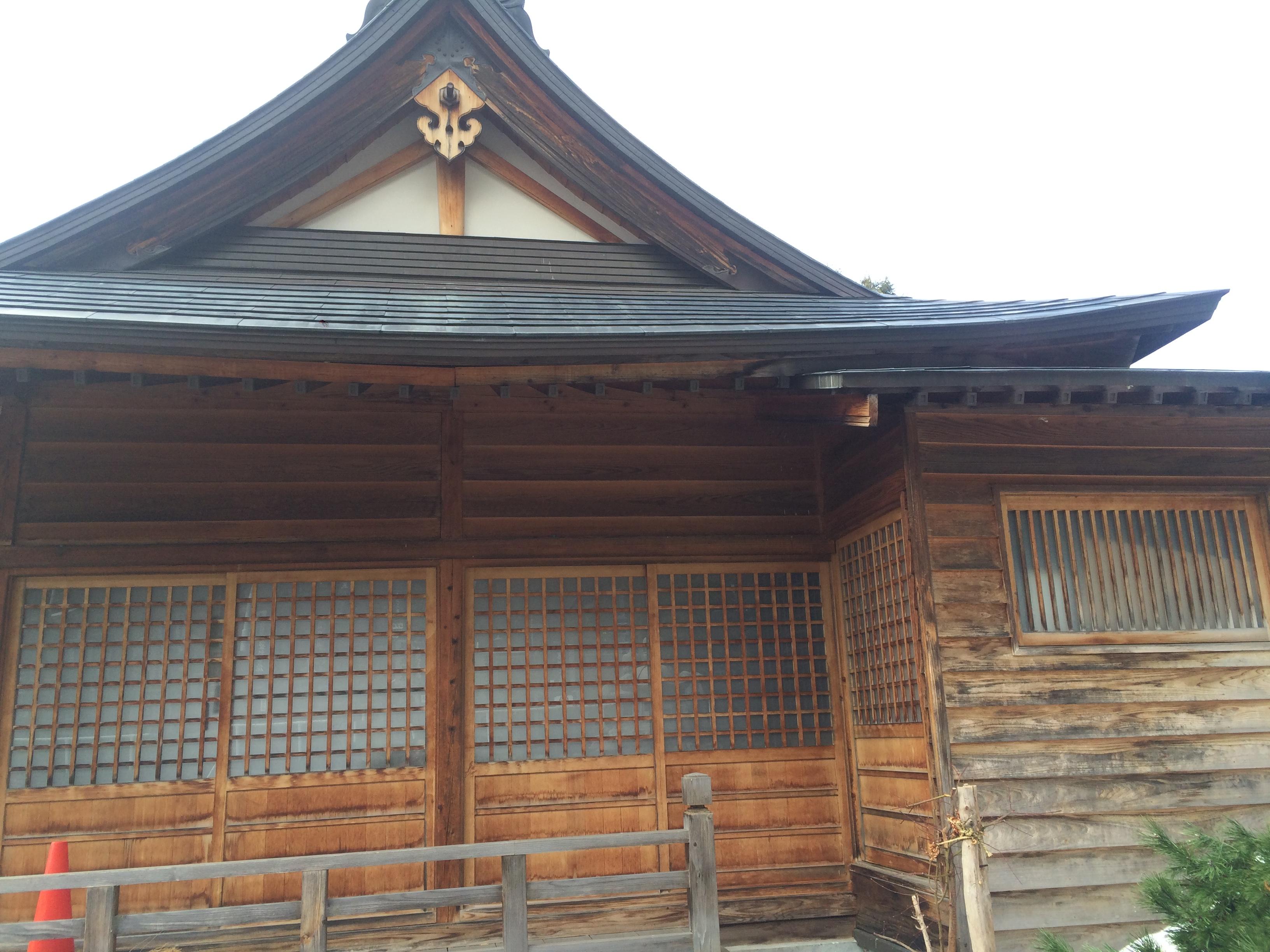 金毘羅堂改修工事