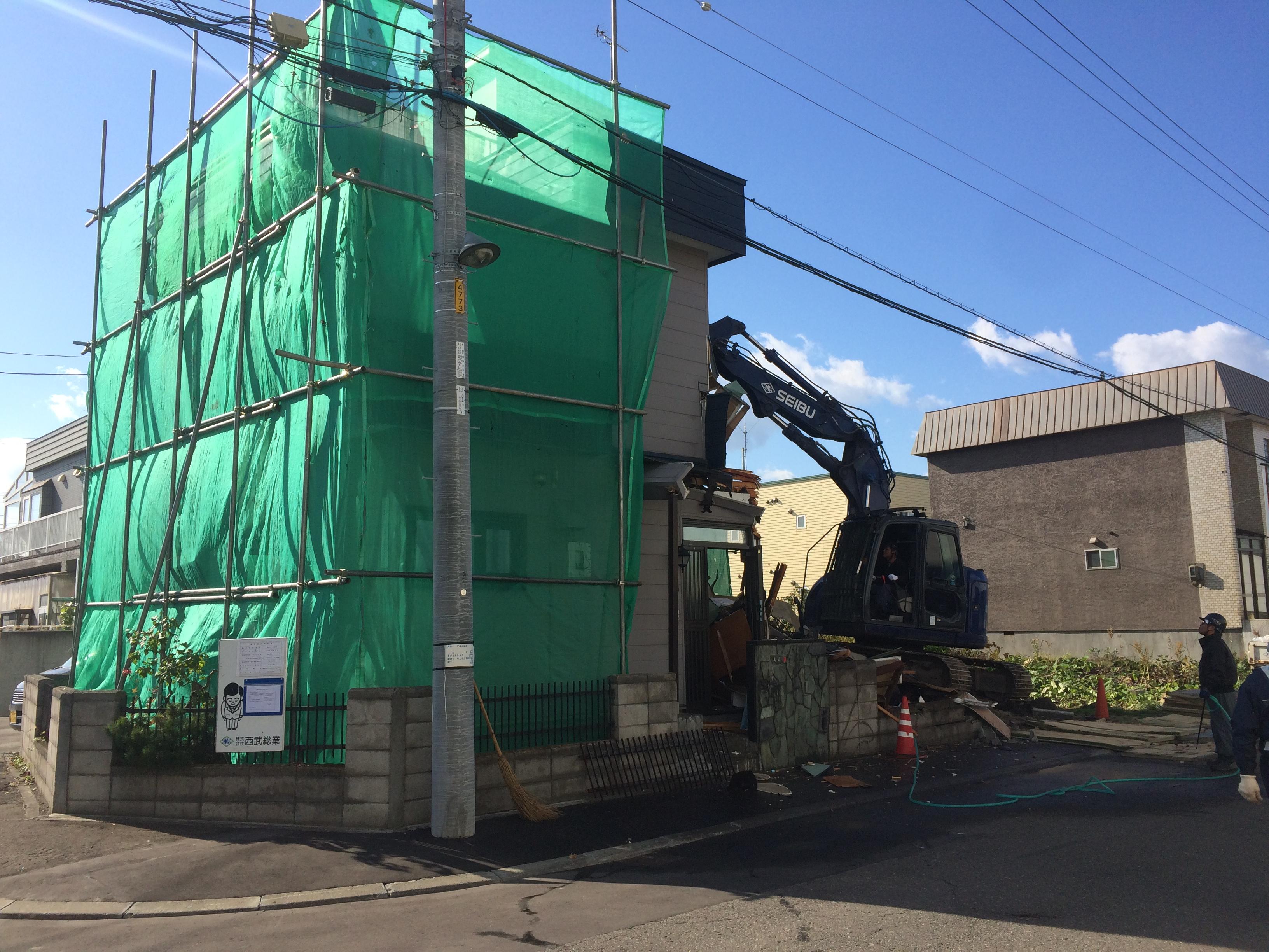 太平 木造3階建工事 ②既存解体