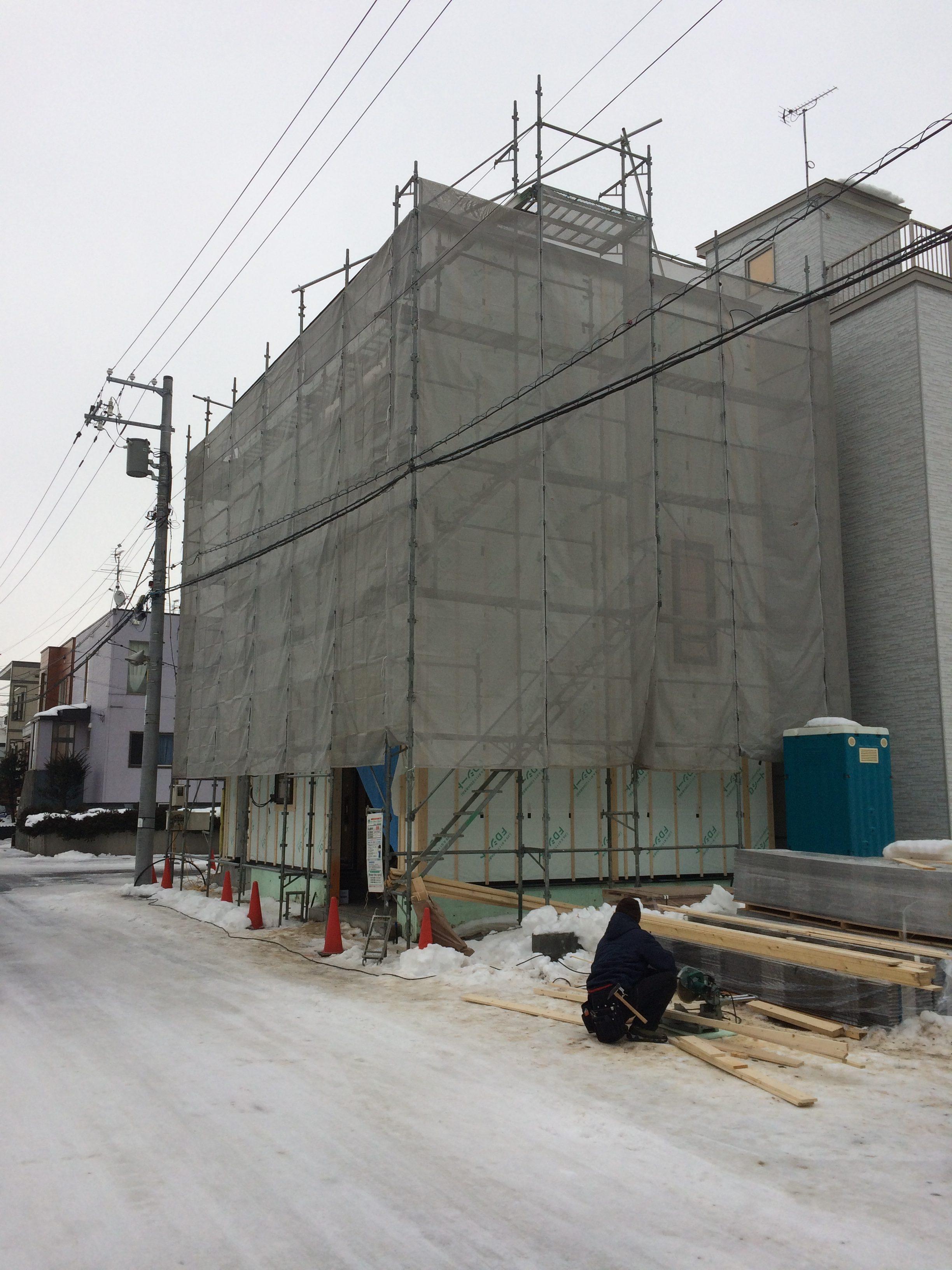 太平 木造3階建工事 ⑥外部工事