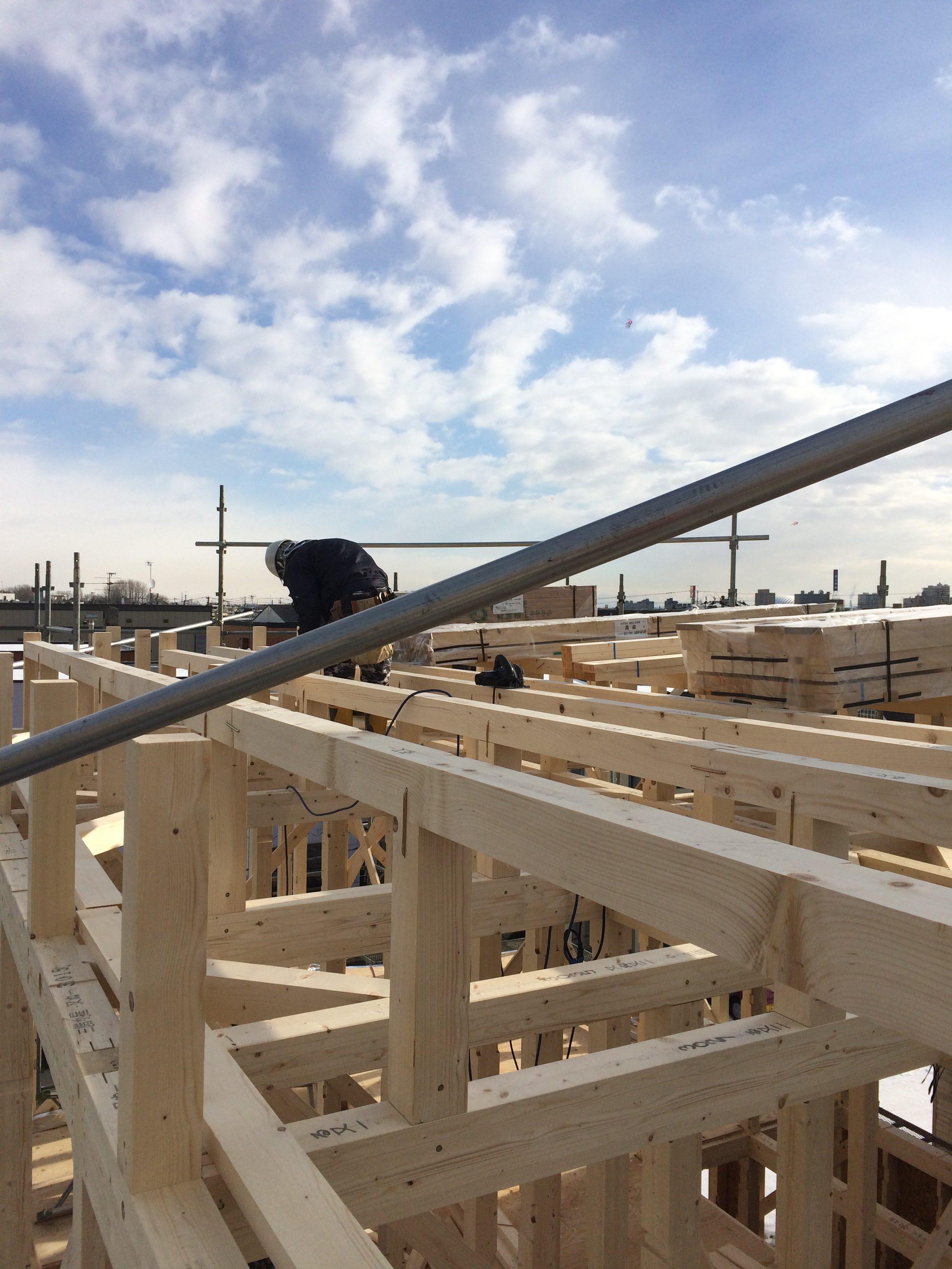 太平 木造3階建工事 ⑤建込み