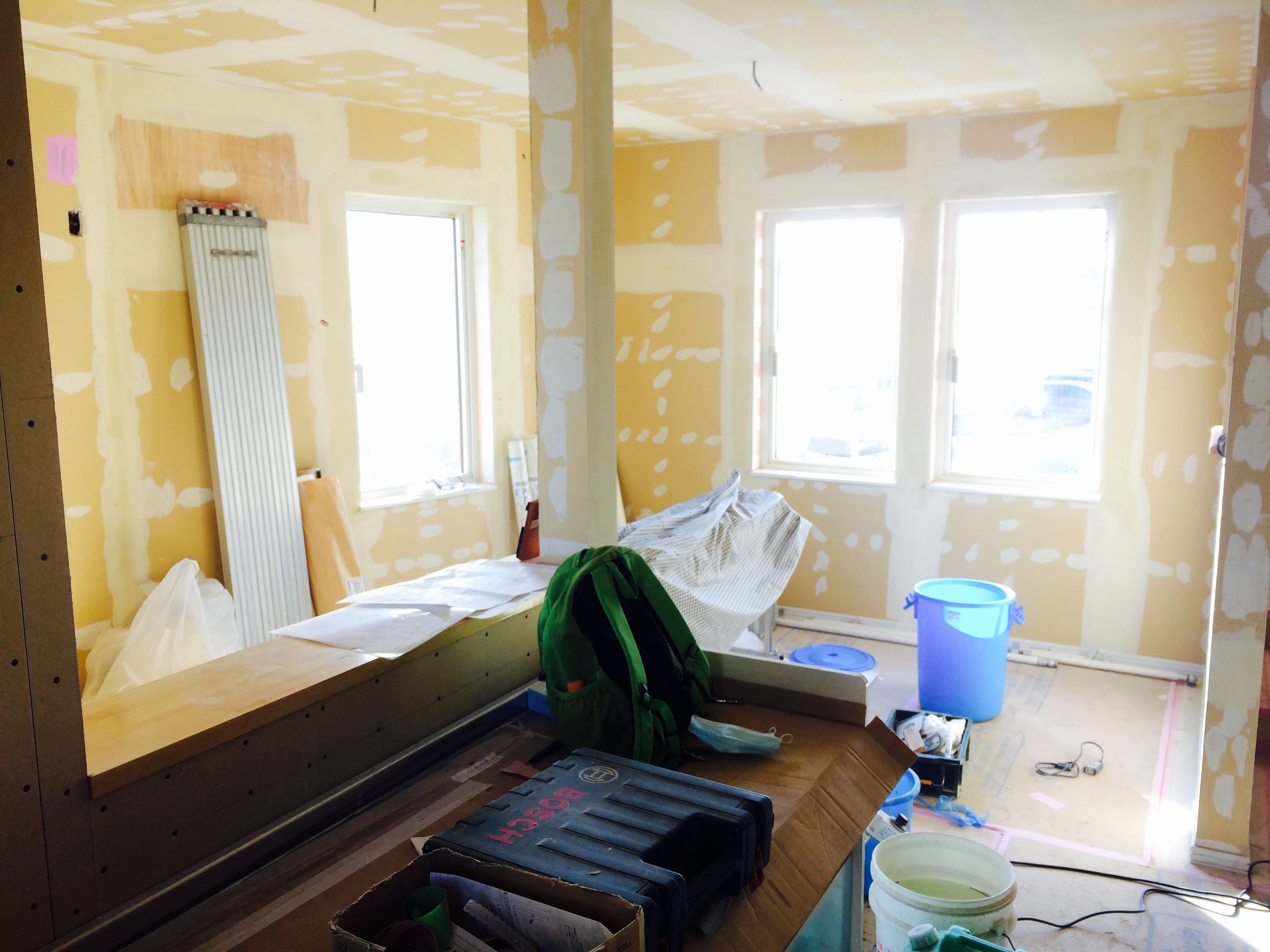 太平 木造3階建工事 ⑪クロス開始