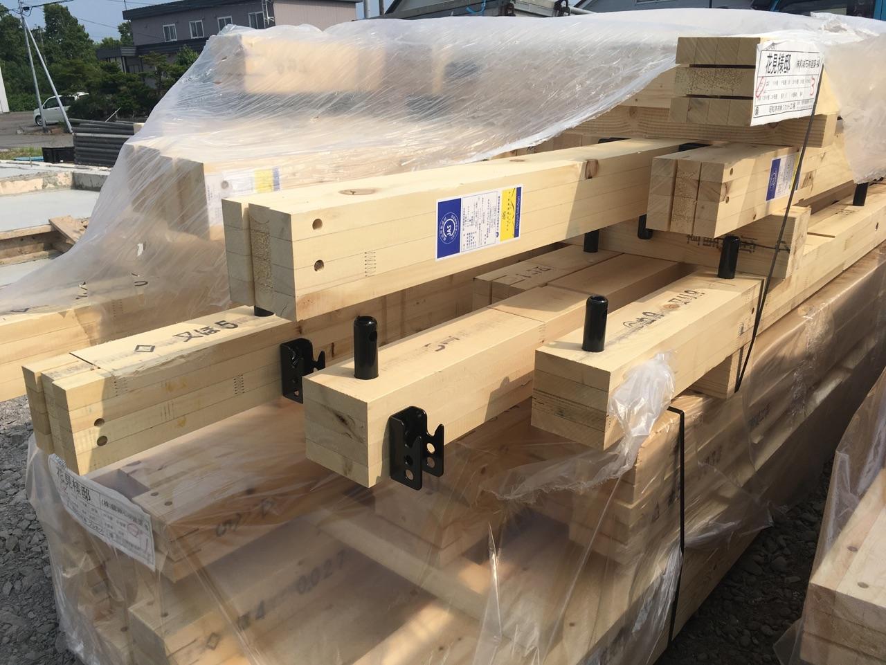 H様邸新築工事 ④足場施工・材料搬入