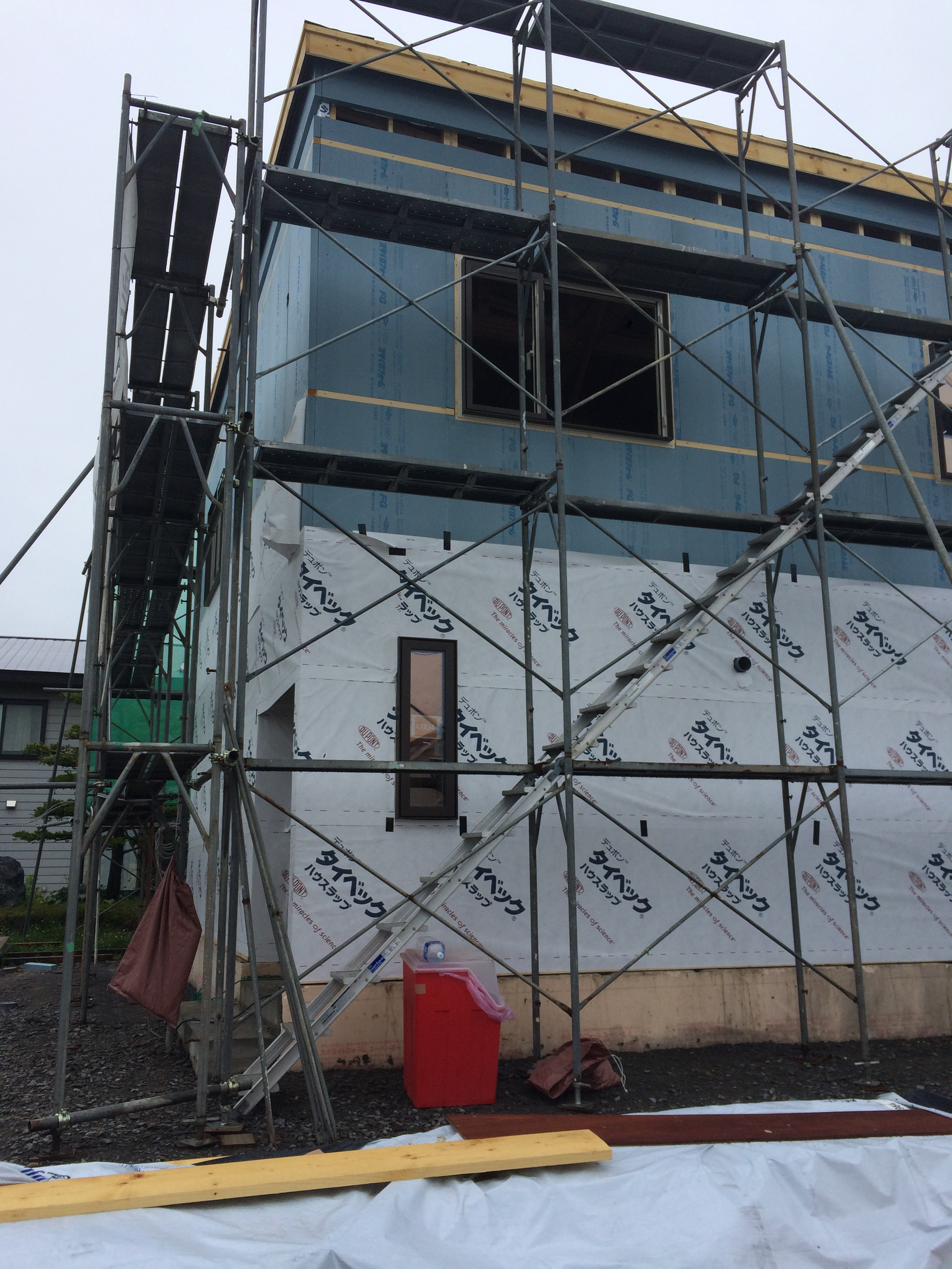 H様邸新築工事 ⑧外周部断熱工事×タイベック工事
