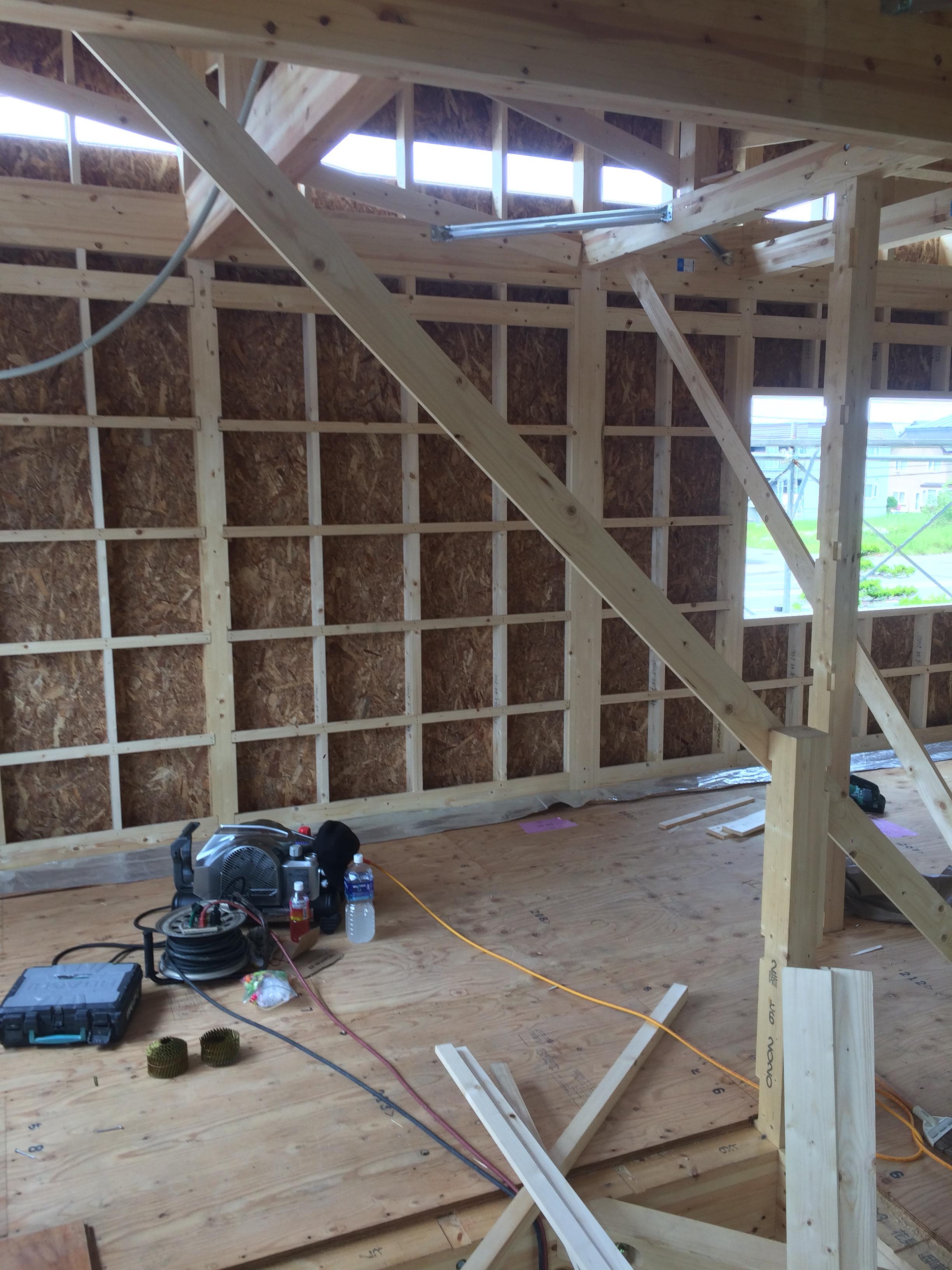 H様邸新築工事 ⑦屋根工事×外部タイベック・窓工事