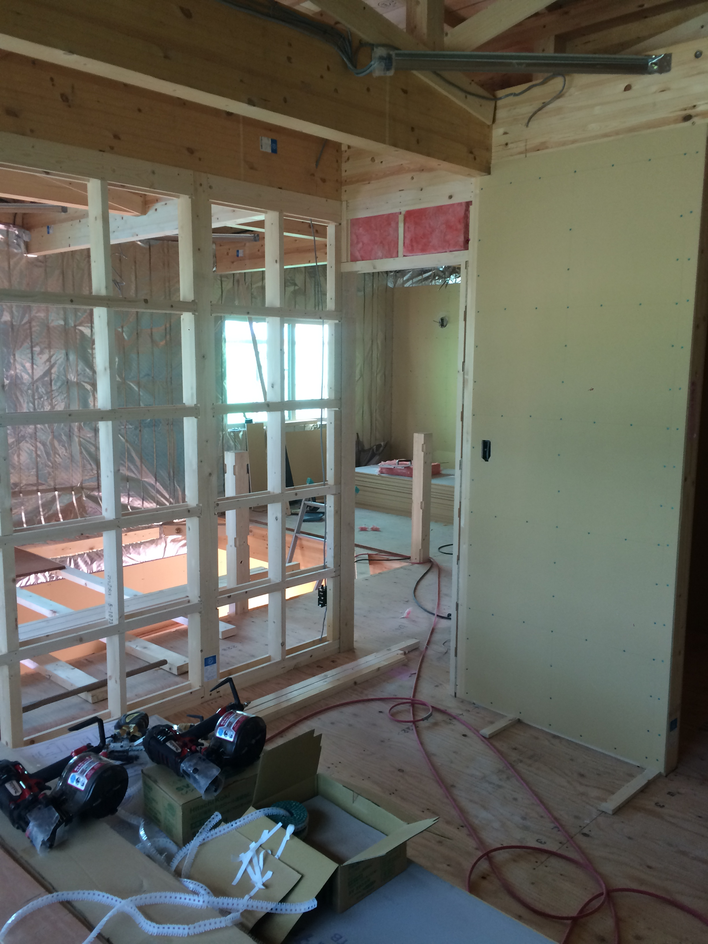 H様邸新築工事 ⑩ボード貼・気流止め工事