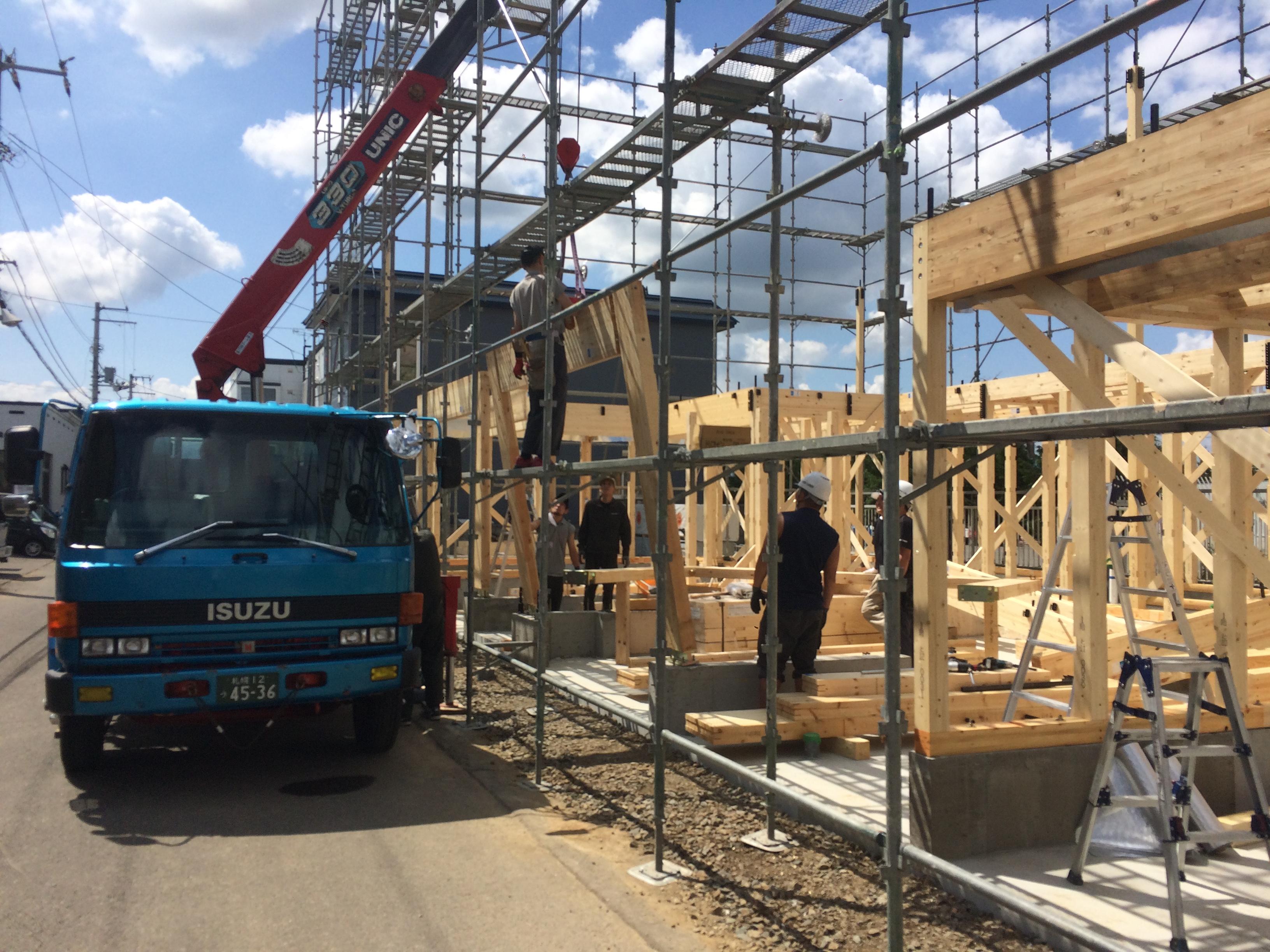 S様邸新築工事 ⑥建て込み