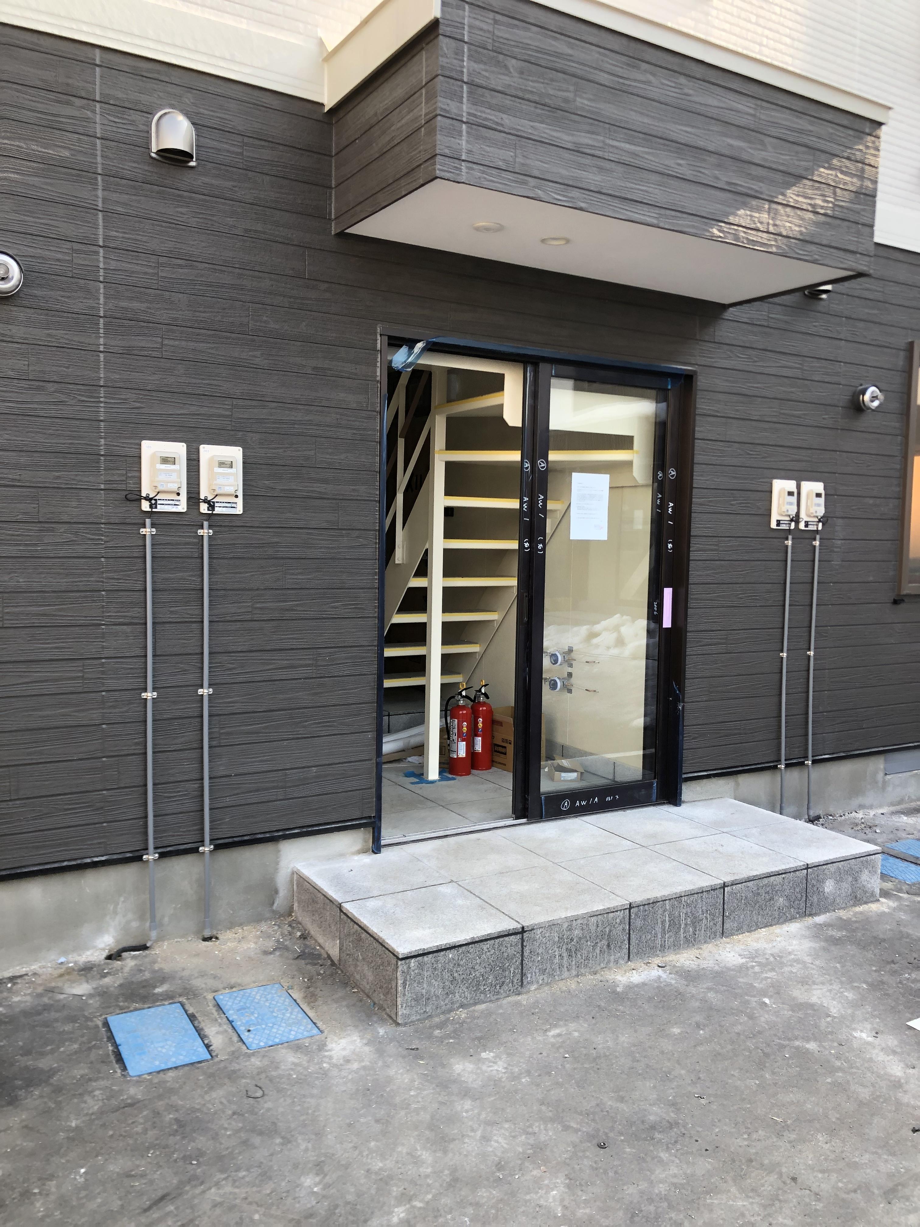 岩見沢AP 新築工事 ⑥クロス張 防火区画処理 完了補修