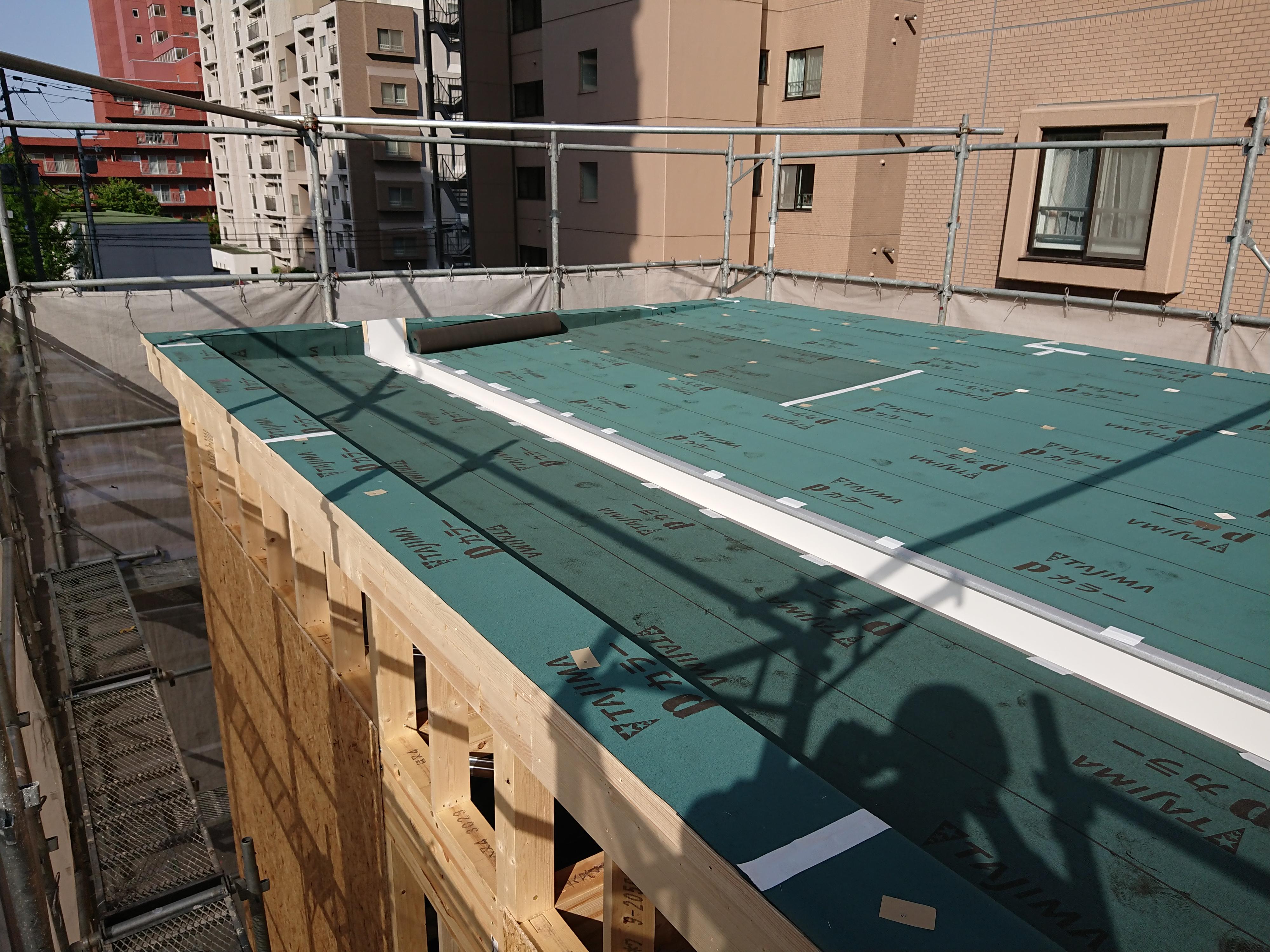 琴似 ラーメン店新築工事 ⑧躯体・屋根工事