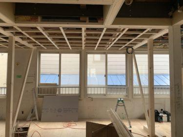 発寒 グループホーム改修工事 ④断熱・防火壁・天井下地