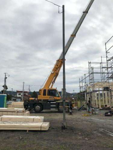 奈井江 T様邸新築工事 ④基礎完成 土台施工・炭塗料施工