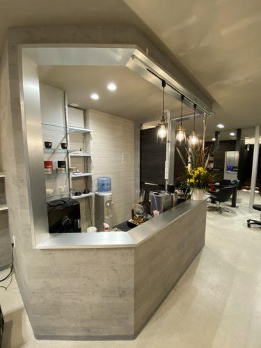 美容室K バーカウンター改修工事